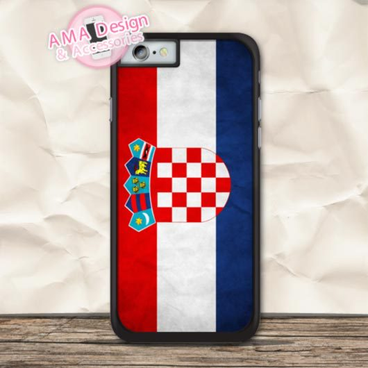 Retro Croatia Flag Cover Phone Case For iPhone X 8 7 6 6s Plus 5 5s SE 5c 4 4s For iPod Touch