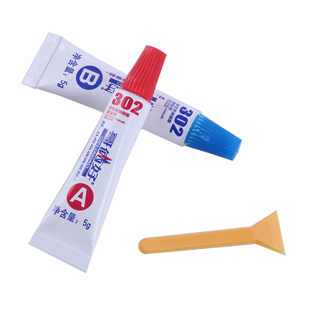 Abs Glue Us 1 99 1set Ab Glue Total 10g Universal 302 Glue Epoxy Resin Pvc Abs Metal Rubber Ceramic Tile Wood Glue Non Perforated Mounting Glue In Epoxies