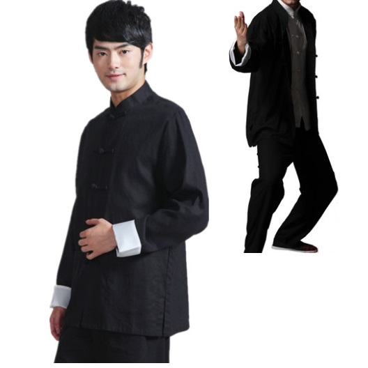 Mens chinese traditional male tang suit Bruce lee style Kung Fu uniform Wing Chun taiji tai chi clothes set suits free shipping free shipping new sale chinese kung fu suit women tai chi clothing 100