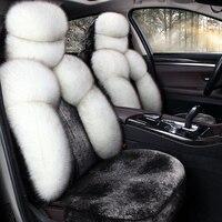 Новые Теплые длинные плюшевые чехлы на сиденья гладкой подушки сиденья автомобиля универсальный автомобильный Стайлинг для Honda Accord Civic CRV