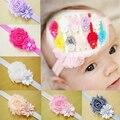 12 Unids/lote Diferentes Colores Kids Baby Girl Toddler Infantil Flor Hairband de La Venda Headwear Del Pelo Del Arco Band Accesorios