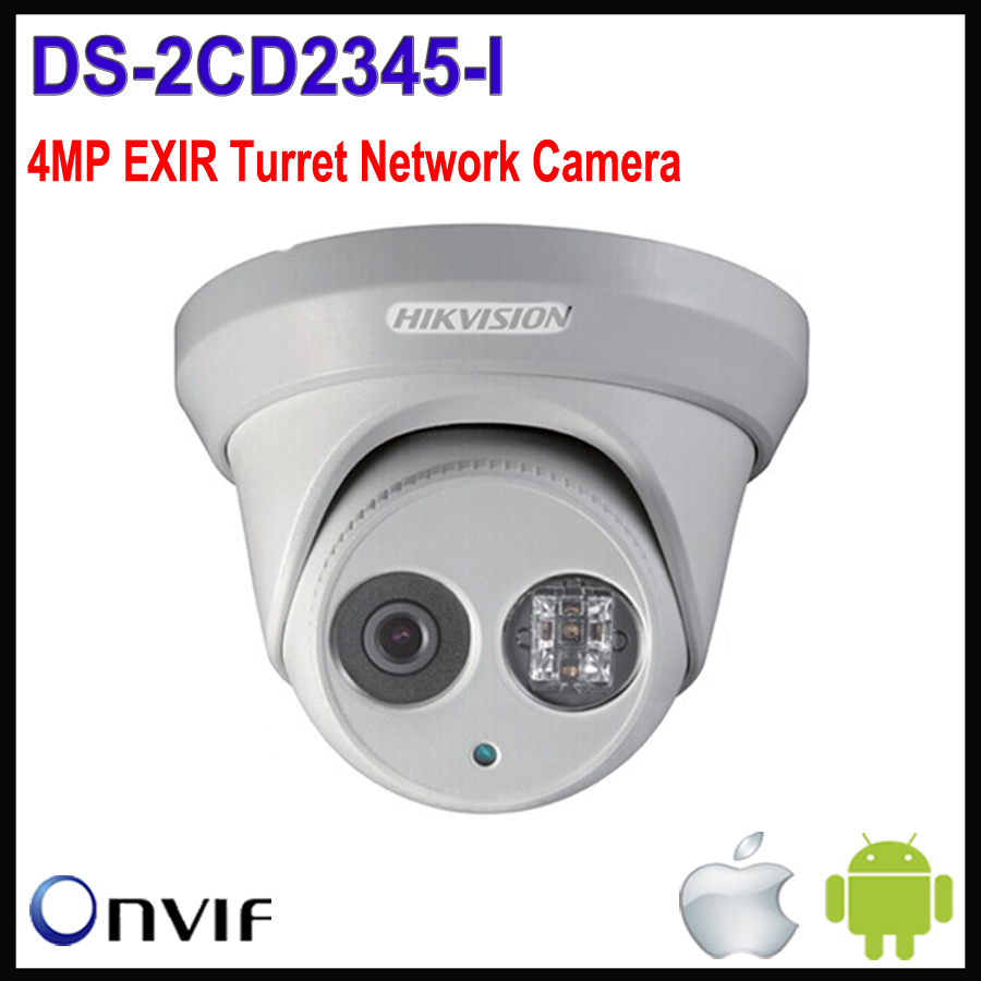 New original Hikvision 4MP Camera IP CCTV IR DS-2CD2345-I Network Dome IP Camera HD 1080P H265 camera POE