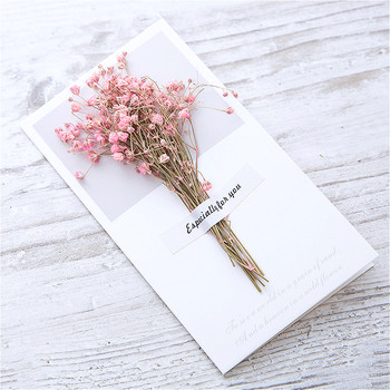 1pcs Garnish Dried Flowers Paper Envelopes Craft European Style Envelope For Card Mail Shipping Supplies Scrapbooking Gift 1