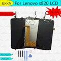 Оптовый магазин Для Lenovo S820 ЖК-Дисплей с Сенсорным Экраном Дигитайзер Ассамблеи запасные части оригинальный сенсорный IC Бесплатные Инструменты,