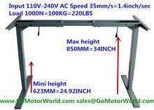 Électrique hauteur réglable table mini hauteur 623mm max hauteur 850mm 35 mm/s vitesse 110 V-240 V 1000N 100 KG 220LBS ascenseur