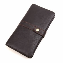 J.M.D Larger Capacity 100% Real Genuine Leather Purse Wallet For Unisex Clutch Bag 8140C