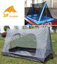 3F Gear outdoor summer tent ultralight 2 person inner mesh camping tent/Now stock bottom is dark grey color