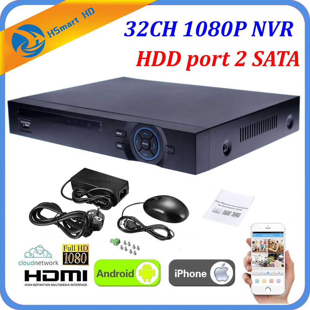 Full HD 32CH 1080P IPC NVR HDMI P2P Cloud Standalone ONVIF 16CH CCTV NVR 2 HDD Network Video Recorder 5.0MP HD IP Camera System big promotion profession 2u full onvif video recorder nvr 32ch 1080p with hdmi p2p cloud for ip camera with 2tb hdd