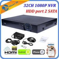 Full HD 32CH 1080P IPC NVR HDMI P2P Cloud Standalone ONVIF 16CH CCTV NVR 2 HDD Network Video Recorder 5.0MP HD IP Camera System