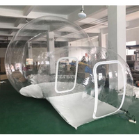 0.45mm Bulle Diameter 3m PVC Inflatable Bubble Tent Lawn Dome Hiking Tent Transparent Clear Camping Tents