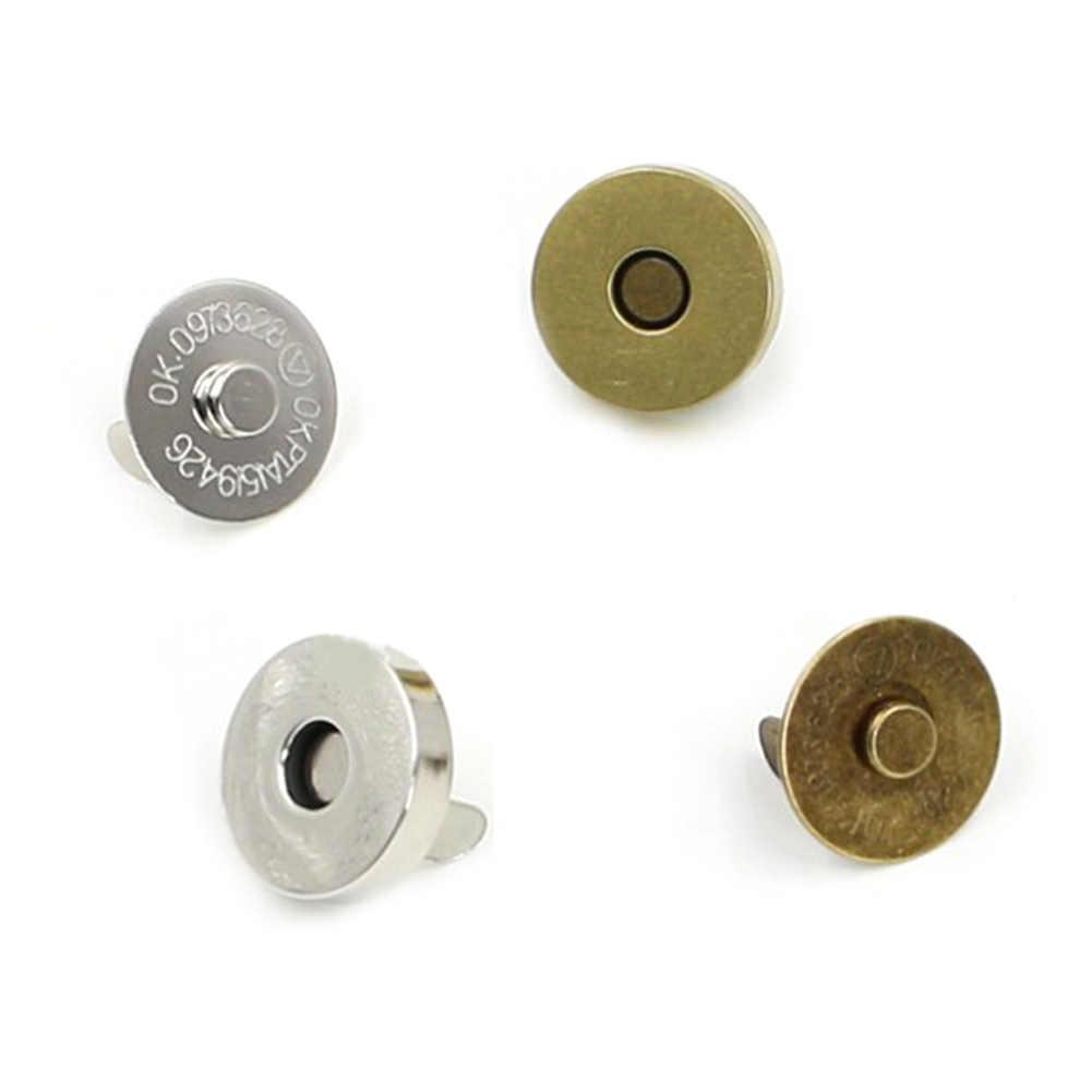 5 Pcs Magnetic Gesper Dompet Buncis Penutupan 14/18 Mm Putaran Jahit Tas Tombol Tekan Stud Tas Aksesoris
