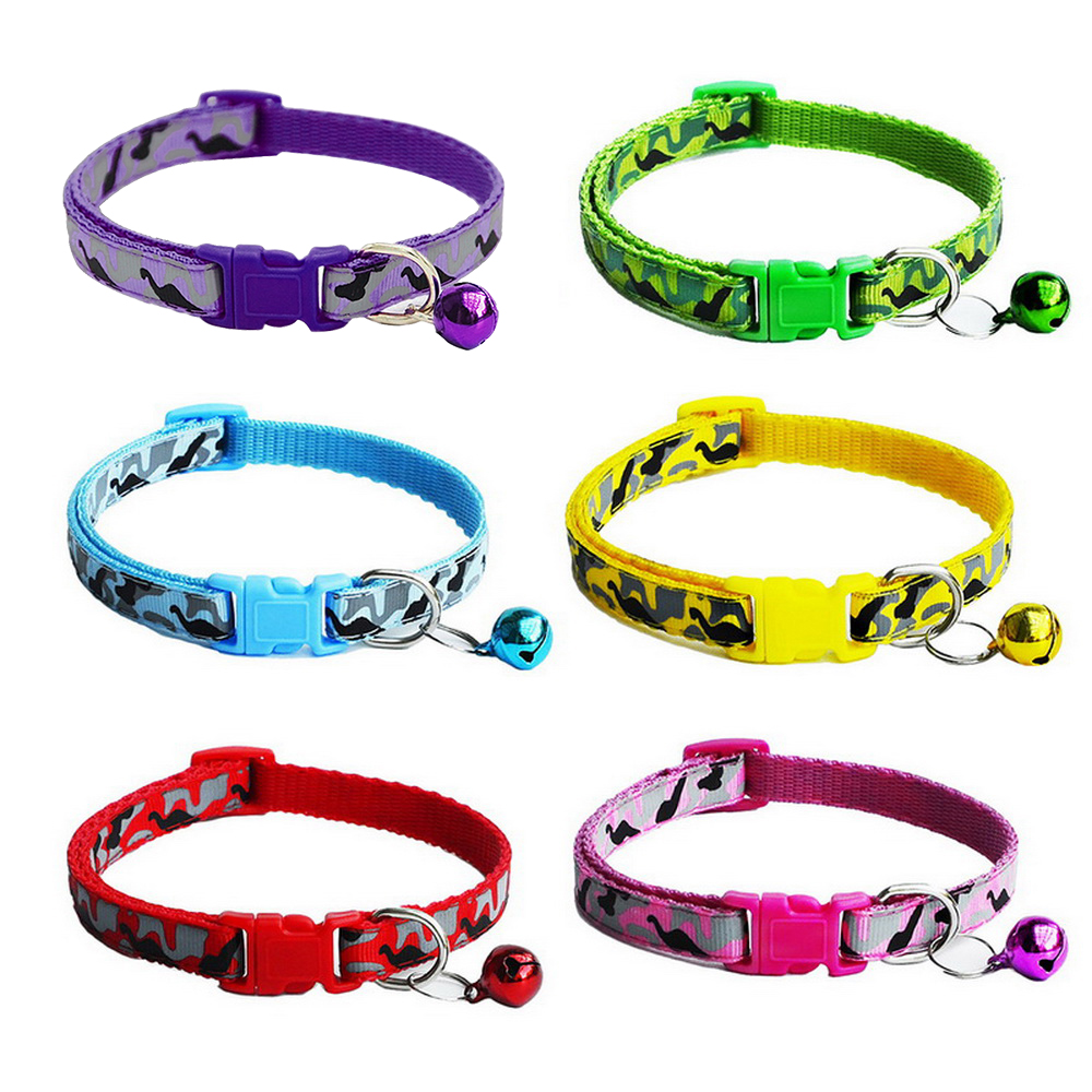 Adjustable Cat Collar Bell Dog Collar For Cats Puppy Collars Cats Kitten Cat Collar Pet Lead Dog Leashes Pet Supplies Products