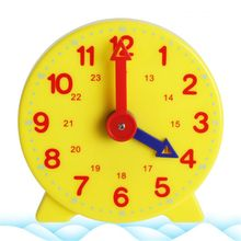 OOTDTY Montessori Student Learning Clock Time Teacher Gear 4 Inch 12/24 Hour