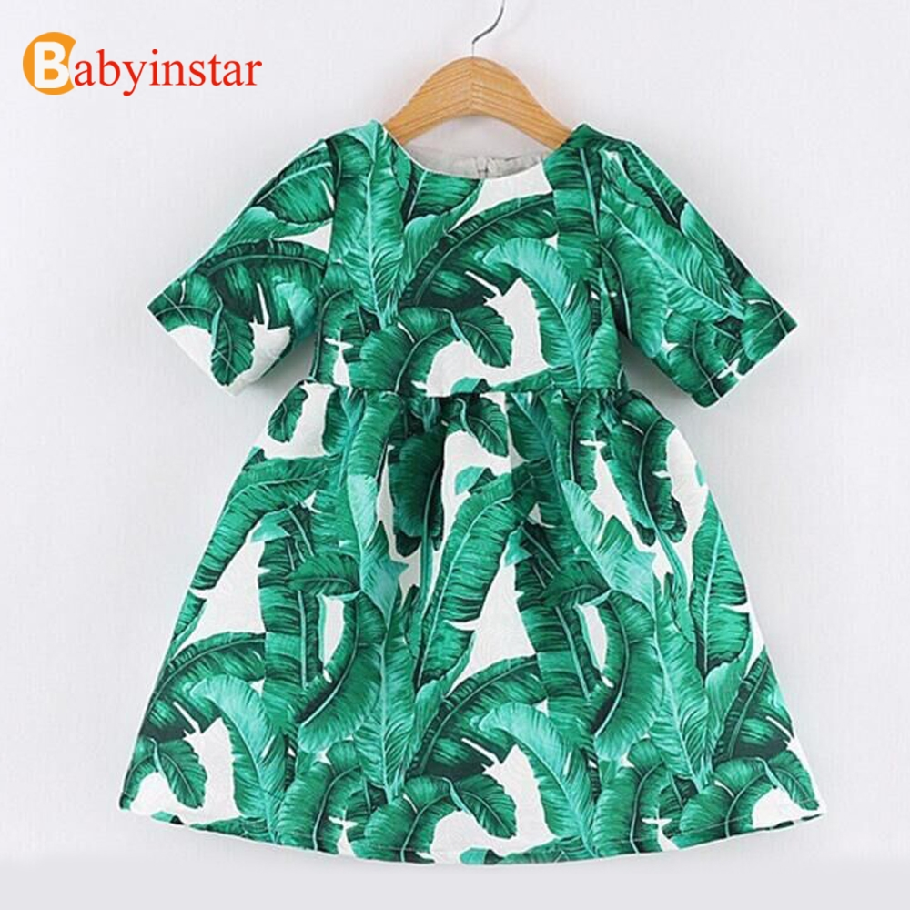 Babyinstar Plantain Leaf Pattern Girls Dress Autumn Flower Girl Dresses Childrens Clothing For 2-8Y Baby Casual Princess DressBabyinstar Plantain Leaf Pattern Girls Dress Autumn Flower Girl Dresses Childrens Clothing For 2-8Y Baby Casual Princess Dress
