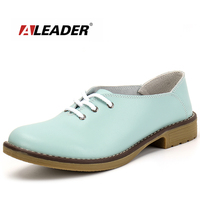 Genuine Leather Oxford Shoes For Women Sneakers Flats 2015 Fashion Women Shoes Casual Moccasins Loafers Sapatilhas