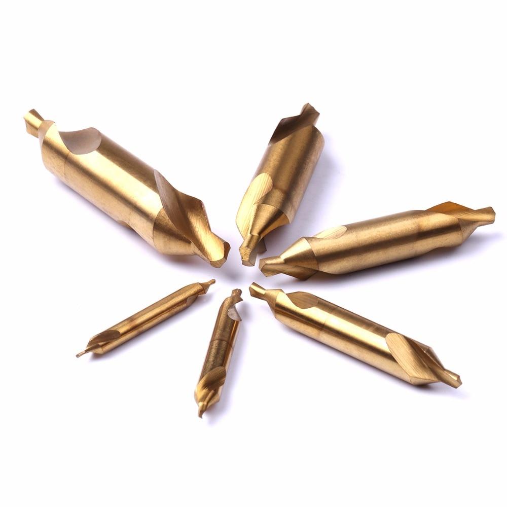 6vnt. 1mm, 2mm, 3mm, 4mm, 5mm, 6mm HSS A tipo titano toniniai - Grąžtas - Nuotrauka 2
