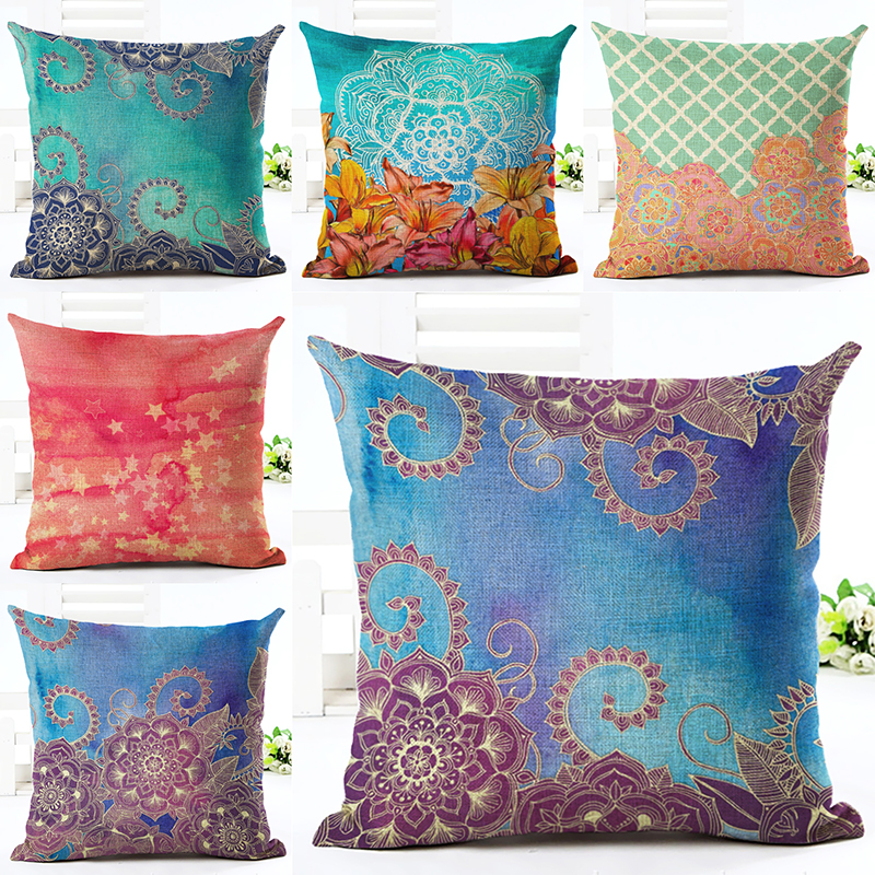 American Pastoral Floral Decorative Pillow British Retro Rustic Small  Decorative Cushion Covers High Grade Cushions