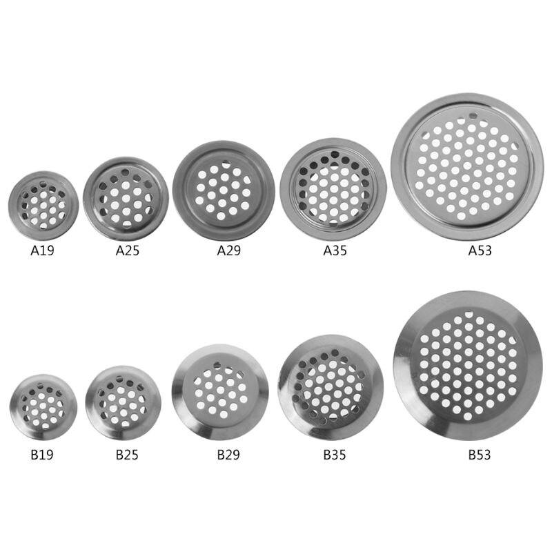 Нержавеющая сталь Air вентиляционное отверстие вентиляционная решетка круглые вентиляционные сетки отверстия