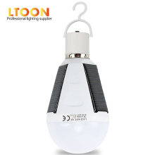 [LTOON]Rechargeable Led Bulb E27 LED Solar Lamp 7W 12W 85V-265V Outdoor Emergency Solar PoweredBulb Camping Hiking Fishing Light