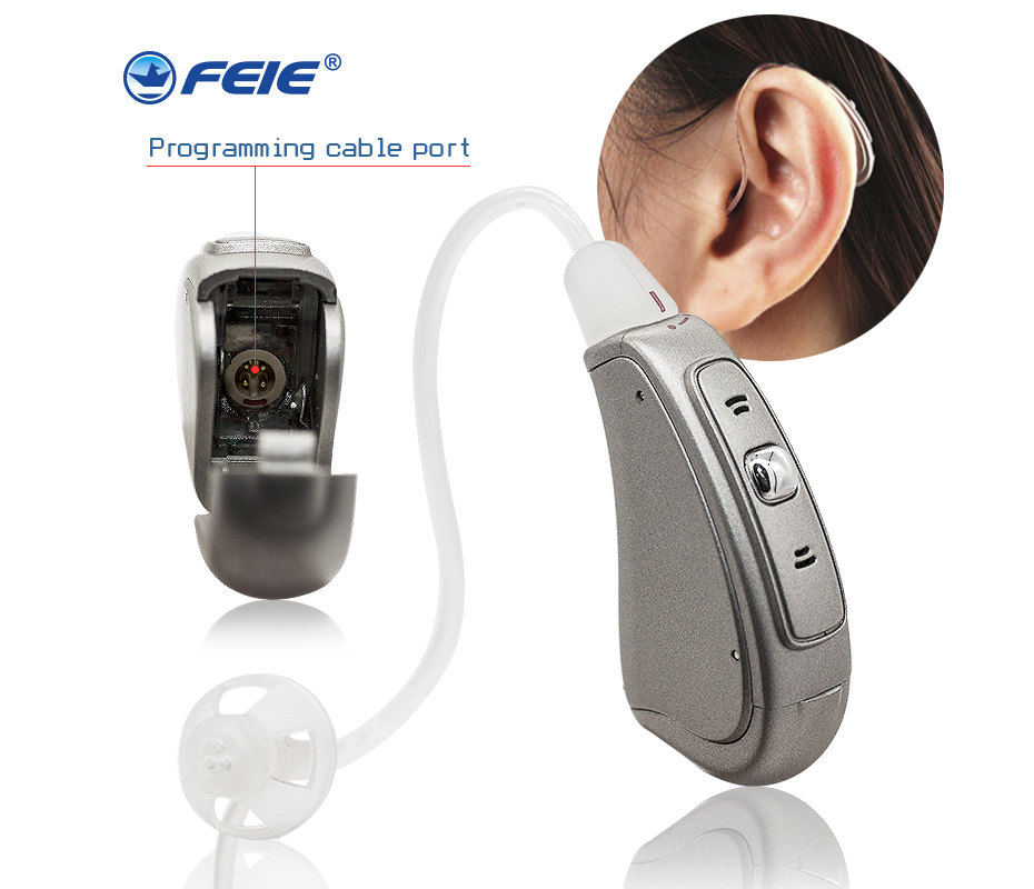 Micro Ear Ric Digital Apparecchi Acustici 8 Channel Hearing Aids for 80db deafness Whislte Tinnitus MY-20 Ear Care programmable digital 6 channels ric reaceiver in the ear canal hearing aids with battery 312 my 19