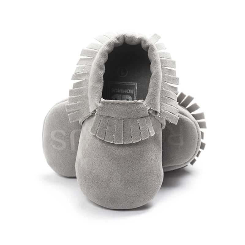 New Born Toddler Baby Boy Girl Tassel Soft Soled Non-slip Crib Shoes Infant Coral Velvet P1