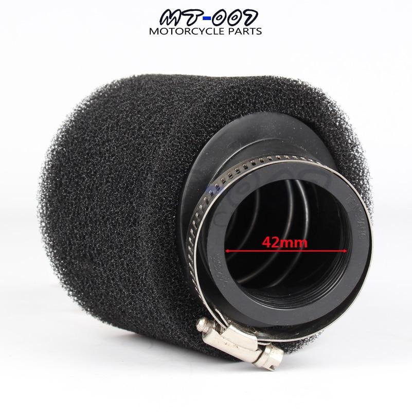 35 мм 38 мм 42 мм 45 мм 48 мм черный прямой шейный Поролоновый воздушный фильтр губка очиститель мопед скутер CG125 150cc Dirt Pit Bike мотоцикл