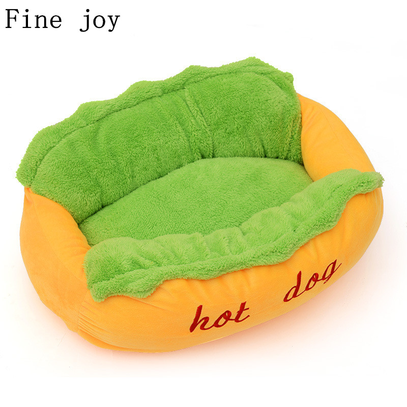 Fine Joy Hot Dog Bed Pet Winter Beds Fashion Sofa Cushion Supplies Warm Dog House Pet Sleeping Bag Cozy Puppy Nest Kennel