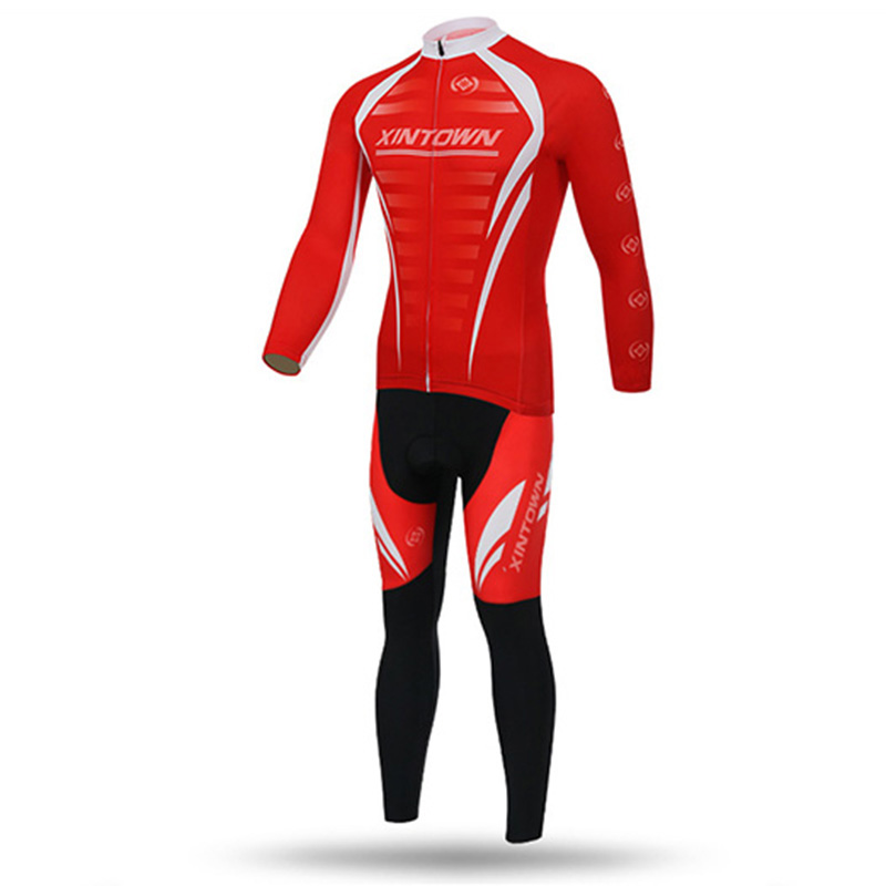 XINTOWN Winter Thermal Fleece Pro Team Ropa Ciclismo Bicycle Maillot Red Cycling Jersey Warmer Bike Clothing MTB 3D GEL polyester summer breathable cycling jerseys pro team italia short sleeve bike clothing mtb ropa ciclismo bicycle maillot gel pad