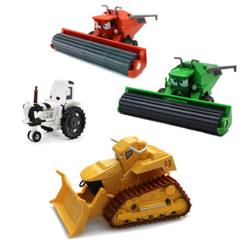 Disney Pixar Cars 2 Diecasts Toy Vehicles Frank Combine Harvester Bullfighter Bulldozer Chewall Metal Car Toy Kids Birthday Gift