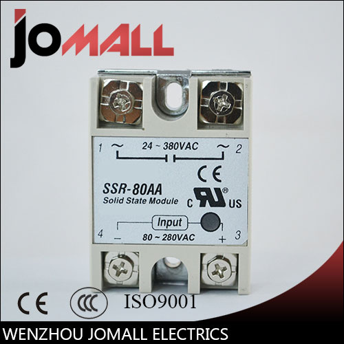 SSR -80AA  AC control AC SSR white shell Single phase Solid state relay ssr 40da single phase solid state relay white silver
