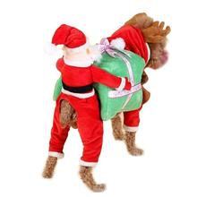Santa Claus Christmas Dog Costume