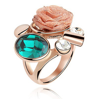 Crystal Ring Made With Swarovski Elements