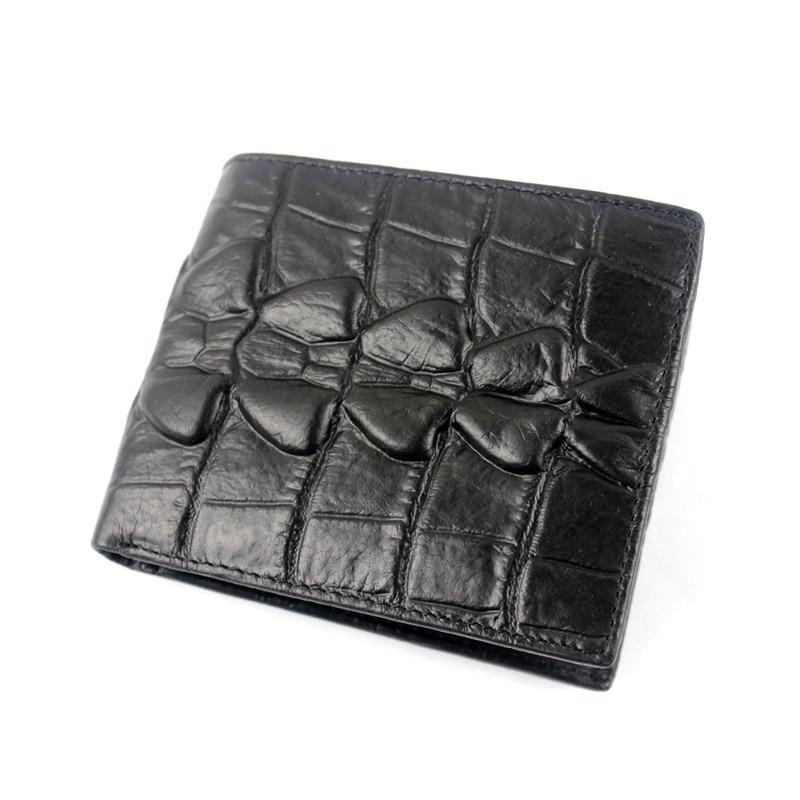 GOOG YU Leather Men wallets short paragraph embossed mens wallet crocodile pattern cowhide wallet Cowhide Short Money Clip in Wallets from Luggage Bags