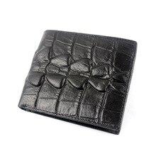 купить Genuine Leather Wallet Fashion Men Black Brown Cowhide Short Moeny Clip Designer Embossing Bag Crocodile Printing Small Purse дешево