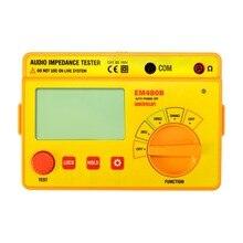 all-sun EM480B Audio impedance tester CATIII 3 test ranges 20/200/2000 resistance meter 1KHz resistance tester
