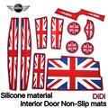 MINI COOPER  F55 F56 car interior Silicone MATS NON-SLIP Pads British Style car pads interior practical accessories