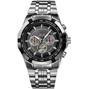 Image 2 - פלדה מלאה מותג יוקרה WEIDE גברים שעונים אנלוגי שעון קוורץ של גברים אופנה עסקי שעוני גברים שעונים relogio masculino 2017
