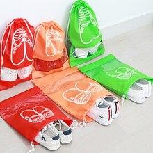 e25c54b38 1 unids no tejido Telas Zapatos Bolsas de almacenamiento mujeres hombres  cubierta a prueba Zapatos Bolsas