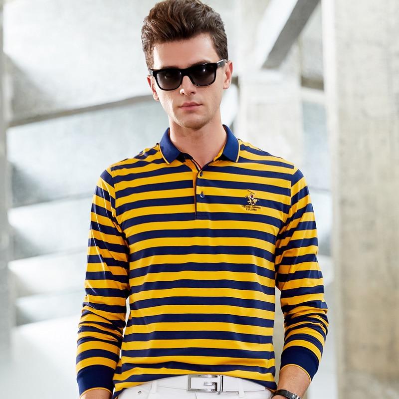 Men Clothes 2019   Polo   3D Embroidery Striped   Polo   Shirt Men Long Sleeve High Quality Smart Casual Cotton Lapel Men   Polo   Shirt