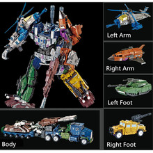цены 5IN1 Transformation G1 Bruticus Members ONSLAUGHT Blastoff Vortex Brawl Swindle Action Figure Alloy X9 Enlarge KO Toys For Gift