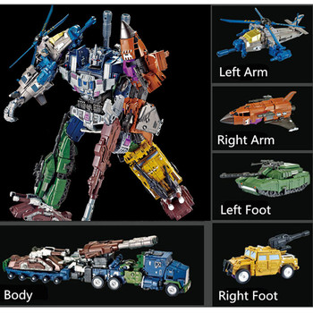 5IN1 Transformation G1 Bruticus Members ONSLAUGHT Blastoff Vortex Brawl Swindle Action Figure Alloy X9 Enlarge KO Toys For Gift [show z store] zeta za 01 take off armeggedon combiner combaticons bruticus transformation action figure