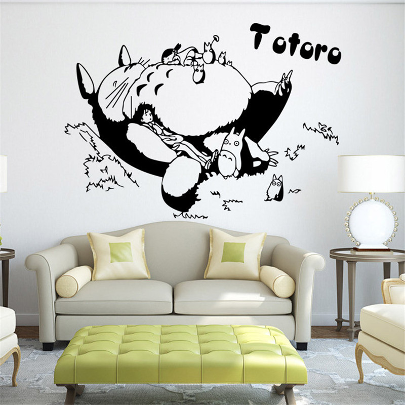 Merveilleux Fashion DIY Anime TOTORO Cartoon Wall Sticker For Kids Room Home Decoration  Wallpaper For Walls Children Room Vinyls HH1363 In Wall Stickers From Home  ...