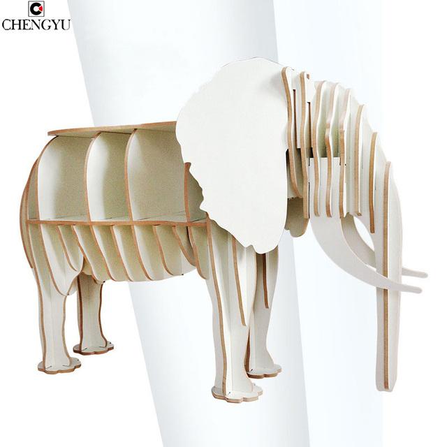 Moderno DecorationCreative Toras de Montagem Mesa Elefante De Madeira Sólida Prateleira de Armazenamento De Mesa Lateral Mobiliário Doméstico 70*27*113 CM