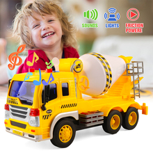 1/16 Vehicle Engineering Model Truck Model Plastic With Light Music Gift Kids Children toys Xmas Gifts For Kids knl hobby j deere model a tractor agricultural vehicle safety model gift act ertl 1 16