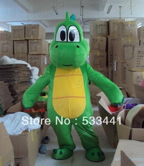 New Super Mario Costume Yoshi Dinosaur Mascot Character Cosplay Suit Dress Adult