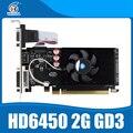 Оригинальный Новый Видеокарт ATI Radeon HD6450 2 ГБ PCI-E GDDR3 64Bit Видеокарта Для DeskPC
