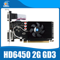 Original New Graphics Cards ATI Radeon HD6450 2GB PCI-E GDDR3 64Bit Graphic Card For DeskPC