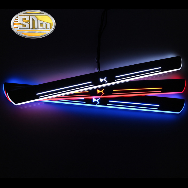 SNCN 4PCS Car LED Door Sill For Citroen DS5 2013 2014 2015 Ultra thin Acrylic Dynamic