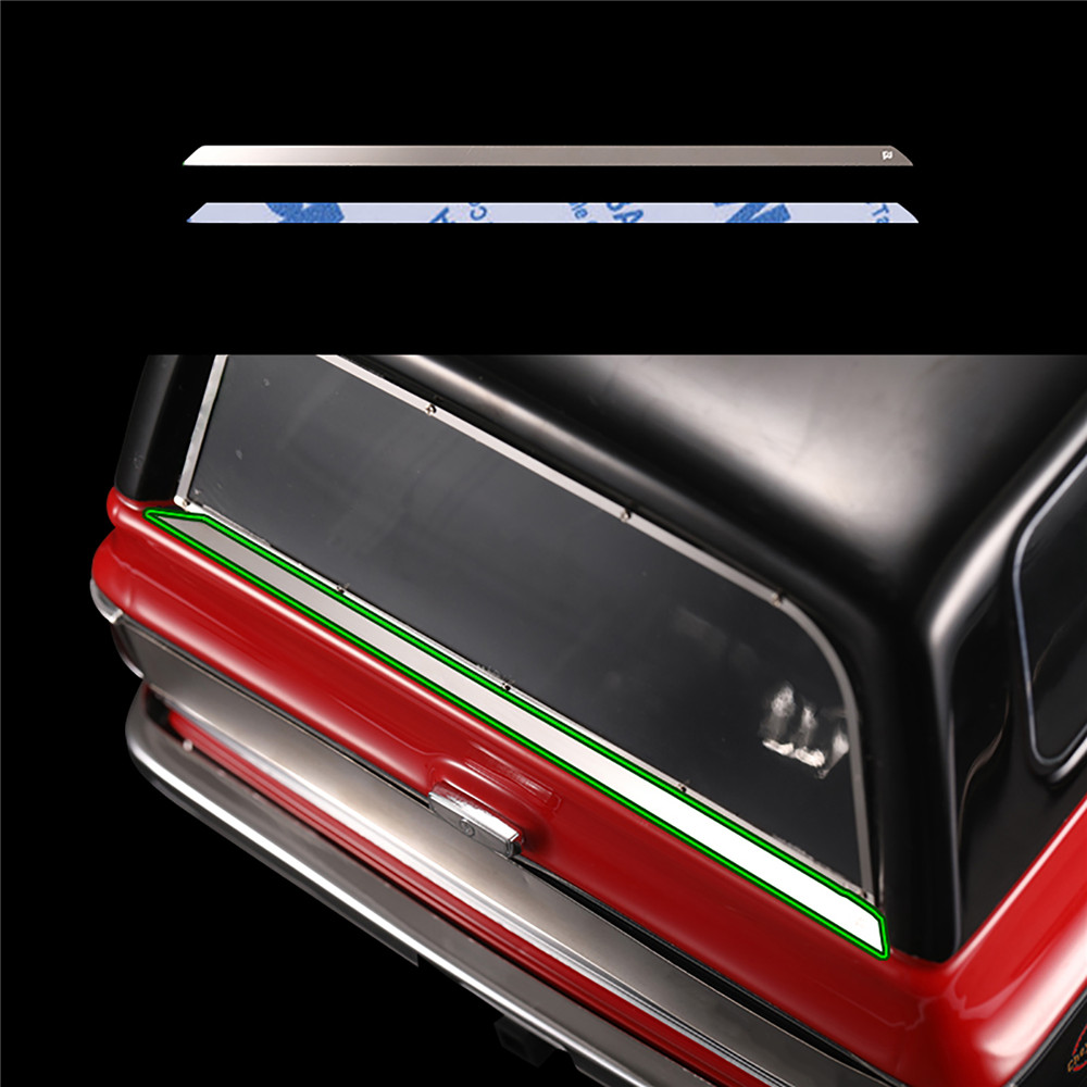 Rear Window Wiper Grille Bright Bar For TRAXXAS TRX-4 T4 Chevrolet K5 Blazer RC Car Accessories Bright Edge Strip Wiper Sticker