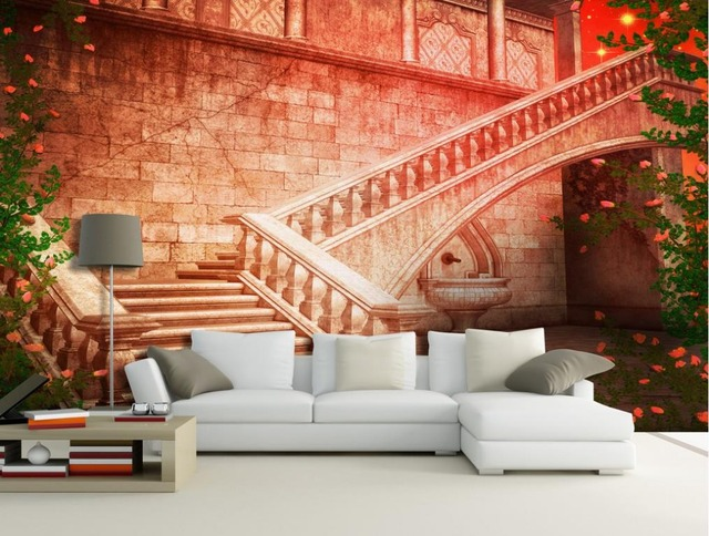 Custom Wallpaper European Clical Steps Back Wall Photo Living Style